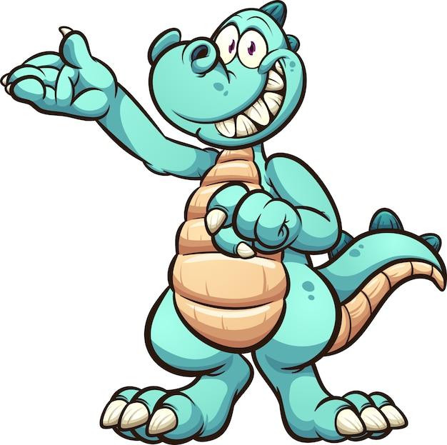 Dinossauro feliz