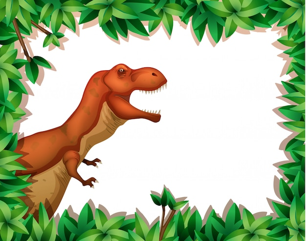 Dinossauro na cena da natureza