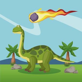 Dinossauro na floresta