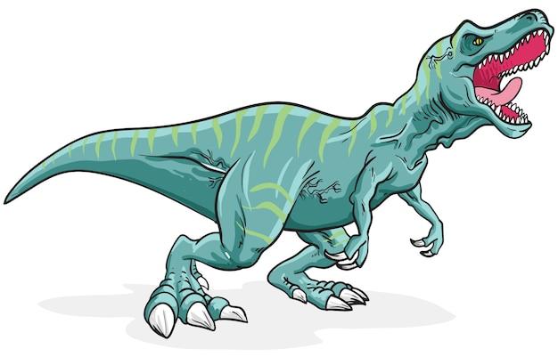 Dinossauro tiranossauro rex da listra