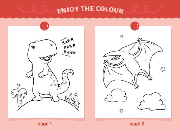 Dinossauros colorindo para crianças