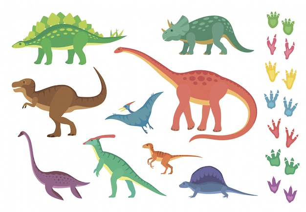 Dinossauros e suas pegadas