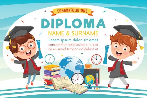 Diploma da escola primária pré-escolar