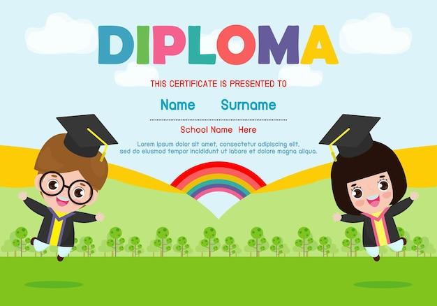 Diploma de jardim de infância e ensino fundamental