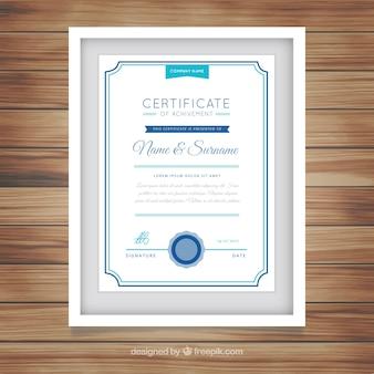 Diploma emoldurado