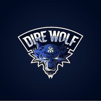 Dire wolf logotipo esport
