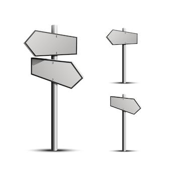 Direção da coluna 3d, objeto em um fundo branco. ilustração vetorial