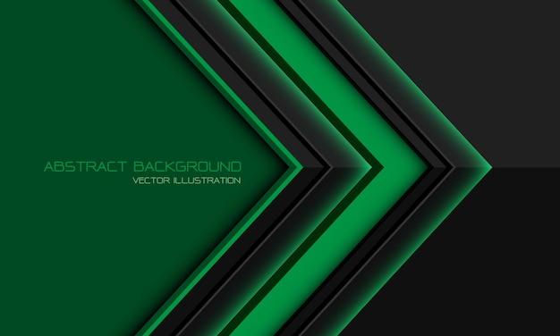Direção da seta cinza verde abstrata geométrica com design de espaço em branco moderno fundo futurista