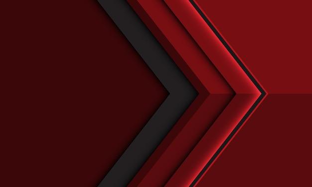 Direção da seta cinza vermelho profundo abstrato com ilustração futurista moderna do design do espaço em branco.