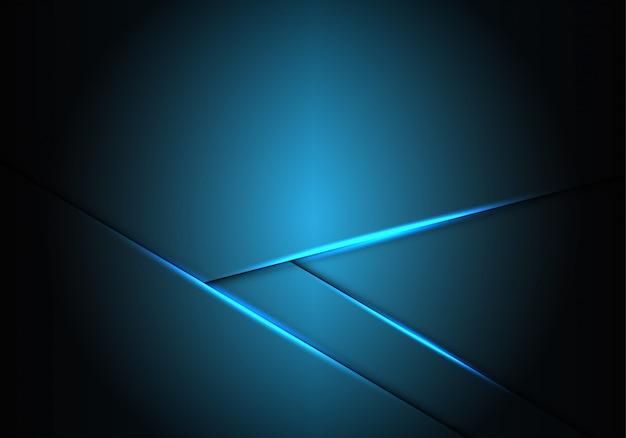 Direção da seta clara metálica azul com fundo do espaço em branco.
