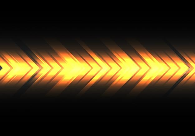 Direção da velocidade da seta amarela