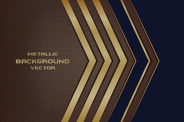 Direção de linha abstrata no fundo futurista de luxo moderno de malha hexágono