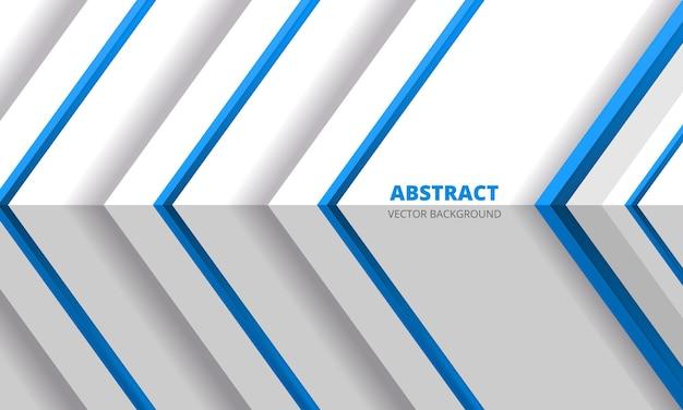 Direção de setas azuis abstratas em fundo branco de design futurista moderno com ângulo