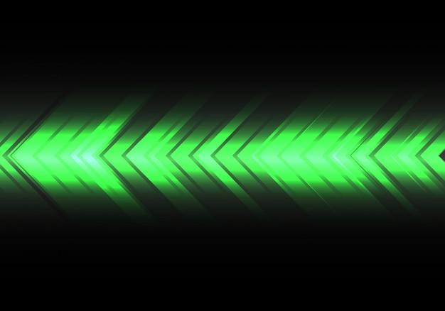 Direção de velocidade de seta de luz verde