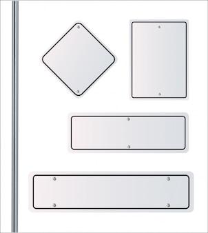 Direções de sinal. imagem com traçado de recorte. ilustração