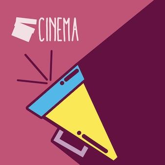 Diretores bullhorn cinema bonito dos desenhos animados conceito