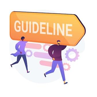 Diretriz e regulamentação. legislação e política corporativa. especificação da empresa, instrução, livro de regras diretivas. elemento de design de gerenciamento de escritório.