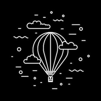 Dirigível dirigível e balões de ar quente