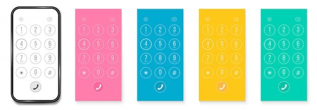 Discagem telefônica, teclado smartphone números smartphone.