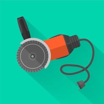 Disco abrasivo ou ferramenta elétrica de máquina de fresagem com sombra. .