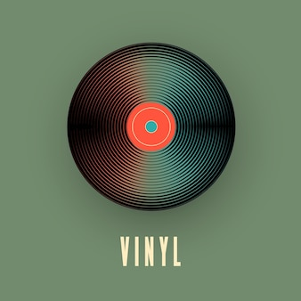 Disco clássico de vinil. ilustração