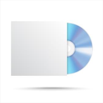 Disco compacto em branco. cd