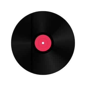 Disco de discos de vinil em caixa de papel.