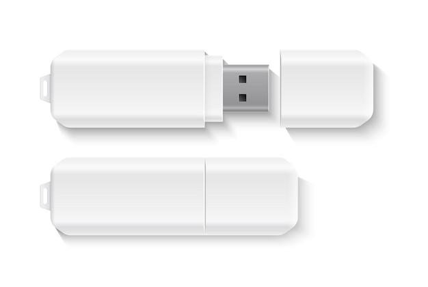 Disco de memória flash móvel em branco de unidade flash realista