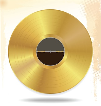 Disco de vinil de ouro