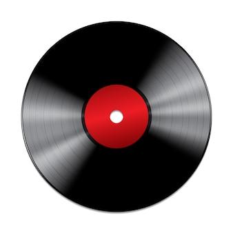 Disco de vinil preto isolado no fundo branco