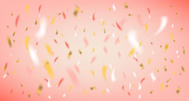 Disco festa rosa fundo com confete de folha