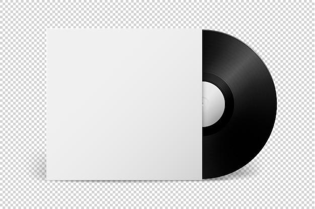 Disco lp de vinil de gramofone de música realista modelo de design retro long play