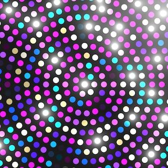 Disco luz de fundo. mosaico colorido