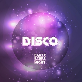 Disco party poster, sábado à noite