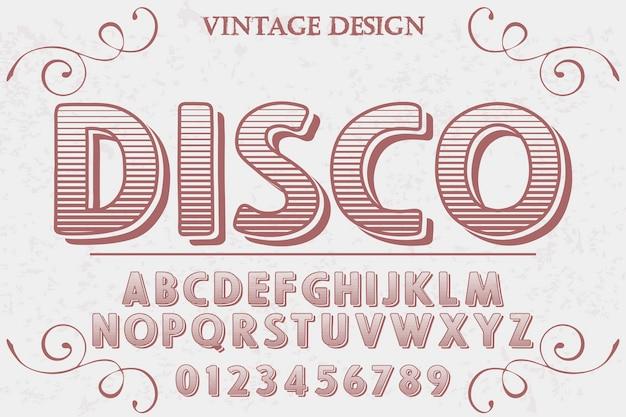 Discoteca artesanal tipo typeface