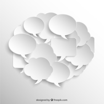 Discurso branco bolhas coleção