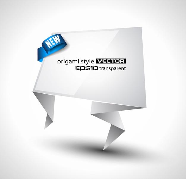 Discurso de estilo origami banner