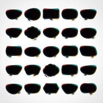 Discurso de nuvens negras com contornos desfocados