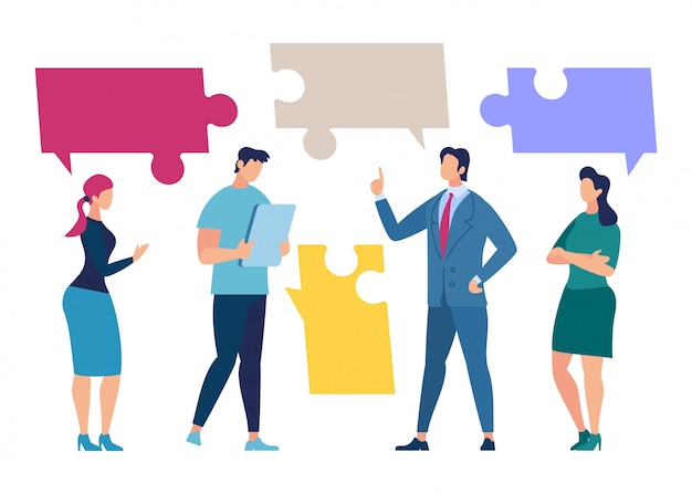 Discussão da equipe do negócio, conceito da negociação dos sócios