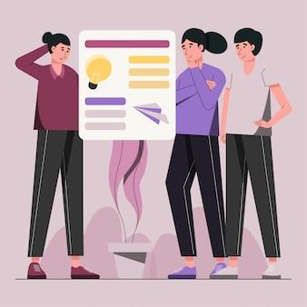 Discussão de ideias criativas