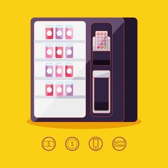 Dispensador de bebidas em lata máquina eletrônica