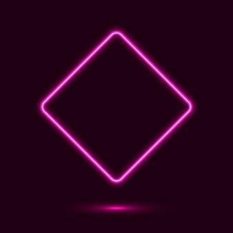 Display com sinal de neon em forma de diamante