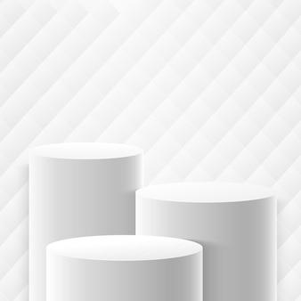 Display redondo abstrato para apresentação do produto