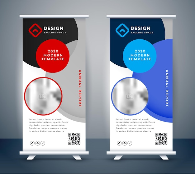 Display stand roll up standee banner template