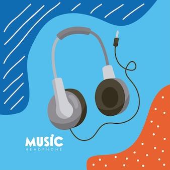 Dispositivo de fone de ouvido no pôster
