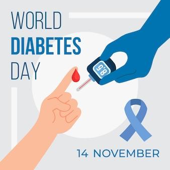Dispositivo de medição do dia mundial da diabetes