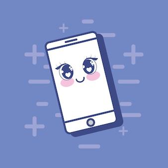 Dispositivo de smartphone kawaii