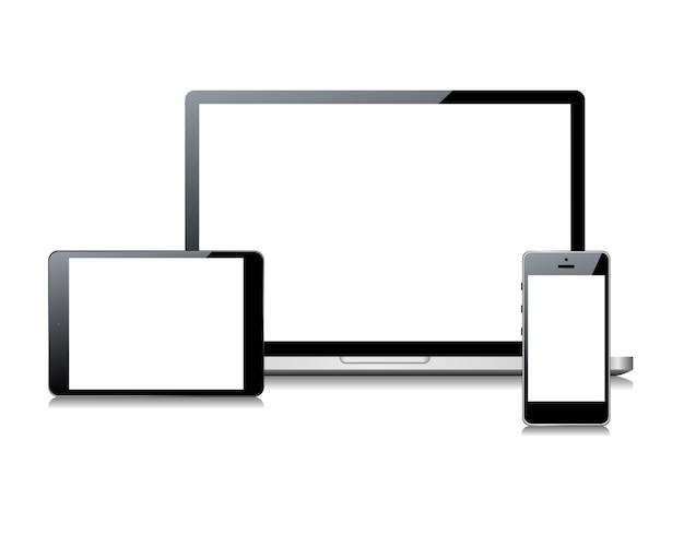 Dispositivo definido em fundo branco.