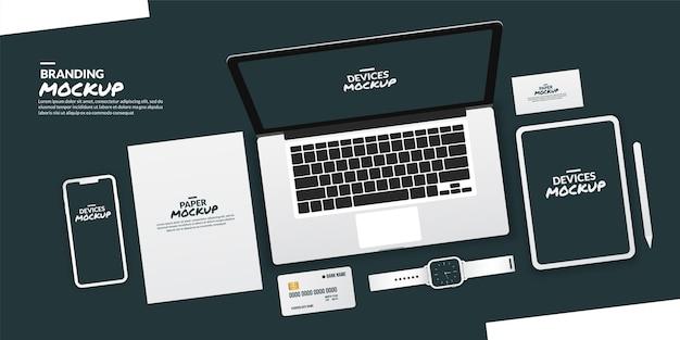 Dispositivos conceituais com tela em branco para desenvolvimento de aplicativos e design ux / ui