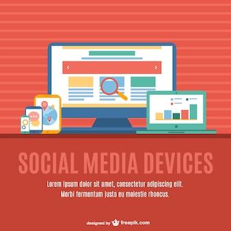 Dispositivos de mídia multi-mídia social
